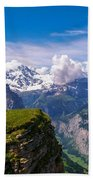 View Of The Swiss Alps Bath Towel