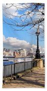 View Of The Thames Bath Towel
