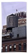 View Of Water Tank From High Line Park Bath Towel