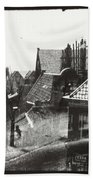 View Over Rooftops In Amsterdam  George Hendrik Breitner  C  1890    . 1910 Bath Towel