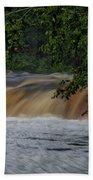 Viewing Tahquamenon Lower Falls Upper Peninsula Michigan 02 Bath Towel
