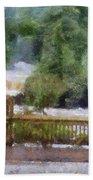 Viewing Tahquamenon Lower Falls Upper Peninsula Michigan Pa Bath Towel