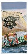 Viking Ship Hand Towel