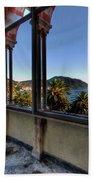 Villa Of Windows On The Sea - Villa Delle Finestre Sul Mare II Bath Towel by Enrico Pelos