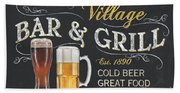 Village Bar And Grill Hand Towel
