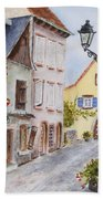 Village In Alsace Bath Towel