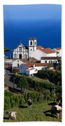 Village In The Azores Hand Towel