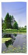 Village Pond At Tissington Bath Towel
