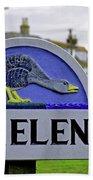 Village Sign - St Helens Bath Towel
