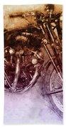 Vincent Black Shadow 2 - Standard Motorcycle - 1948 - Motorcycle Poster - Automotive Art Bath Towel