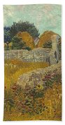 Vincent Van Gogh, Farmhouse In Provence Bath Towel