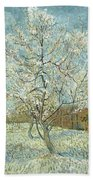 Vincent Van Gogh, The Pink Peach Tree Bath Towel