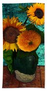 Vincent's Sunflowers 2 Bath Towel