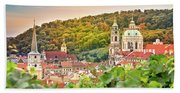 Vineyard Of Prague Bath Towel