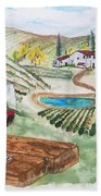 Vineyards Of Tuscany  Bath Towel
