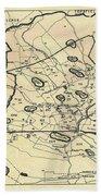 Vintage 1692 Map Of Salem Massachusetts - 1866 Bath Towel