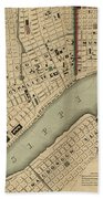 Vintage 1840s Map Of New Orleans Hand Towel