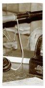 Vintage Adding Machine Bath Towel