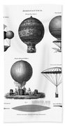 Vintage Aeronautics - Early Balloon Designs Bath Towel