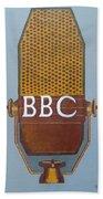 Vintage Bbc Mic Bath Towel