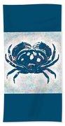 Vintage Blue Crab Bath Towel