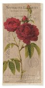 Vintage Burlap Floral 3 Bath Towel