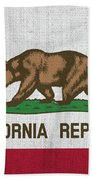 Vintage California Flag Bath Towel