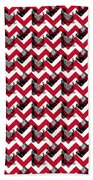 Vintage Camera Chevron Bath Towel