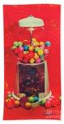 Vintage Candy Store Gum Ball Machine Bath Towel