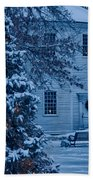 Vintage Christmas Church In Vermont Bath Towel