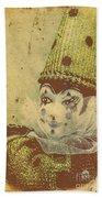 Vintage Circus Postcard Bath Towel
