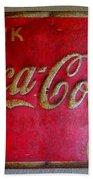 Vintage Coca-cola Sign Bath Towel