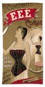 Vintage Corset Ad 1890 Bath Towel