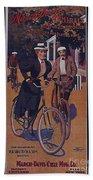 Vintage Cycle Poster March Davis Cycle 100 Dollars Bath Towel