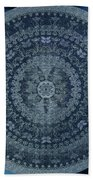 Vintage Denim Mandala Bath Towel