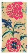 Vintage Flower Design Bath Towel