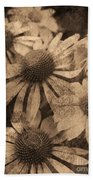 Vintage Flowers Bath Towel