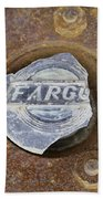 Vintage Fargo Wheel Art Bath Towel