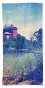 Vintage Great Lakes Lighthouse Bath Towel