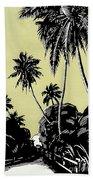 Vintage Hawaii Palms Bath Towel