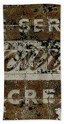 Vintage Ice Cream Mural  Bath Towel
