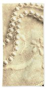 Vintage Lace And Pearls Bath Towel