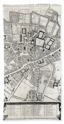 Vintage Map Of Cambridge England - 1690 Bath Towel