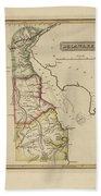 Antique Map Of Delaware Hand Towel