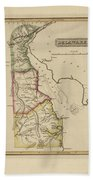 Antique Map Of Delaware Bath Towel