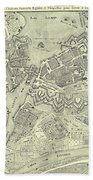 Vintage Map Of Geneva Switzerland - 1825 Bath Towel