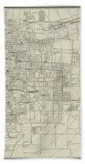 Vintage Map Of Memphis Tennessee - 1911 Bath Towel
