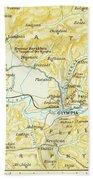 Vintage Map Of Olympia Greece - 1894 Bath Towel