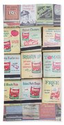Vintage Matchbooks Bath Towel