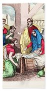Vintage Nativity Scene Bath Towel